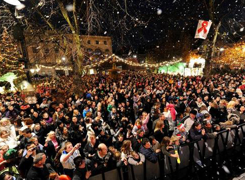 CHRISTMAS LIGHTS SWITCH ON PIC